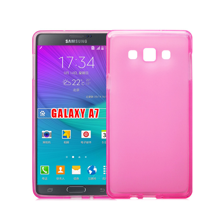 Чехол-накладка TPU cover case for Samsung A700 (A7) (pink)