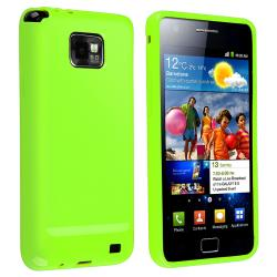 Чехол-накладка TPU cover case for Samsung i9100/i9105 Galaxy S2 (green)