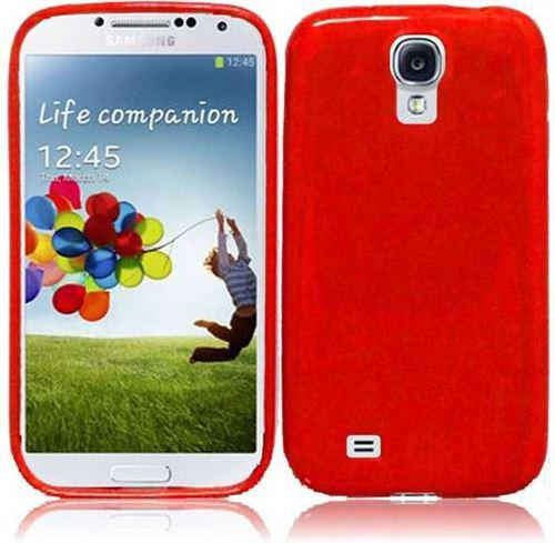 Чехол-накладка TPU cover case for Samsung i9500 Galaxy S4 (red)