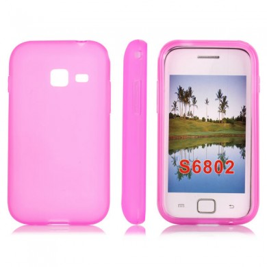 Чехол-накладка TPU cover case for Samsung S6802 Galaxy Ace Duos (pink)