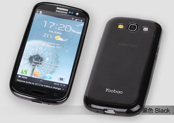 Чехол-накладка Yoobao 2 in 1 Protect case для Samsung i9300 Galaxy S III (black)