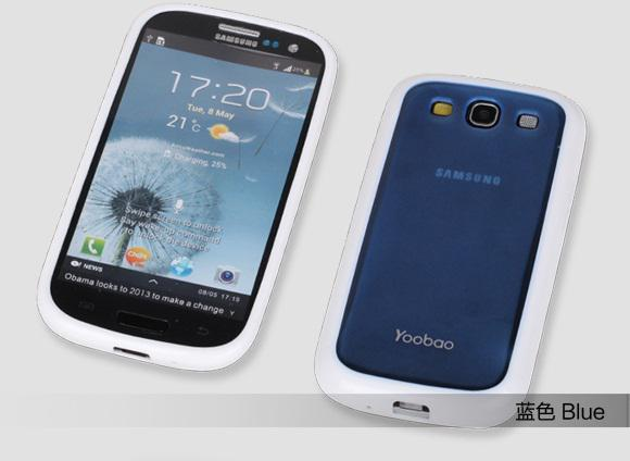 Чехол-накладка Yoobao 2 in 1 Protect case для Samsung i9300 Galaxy S III (blue)