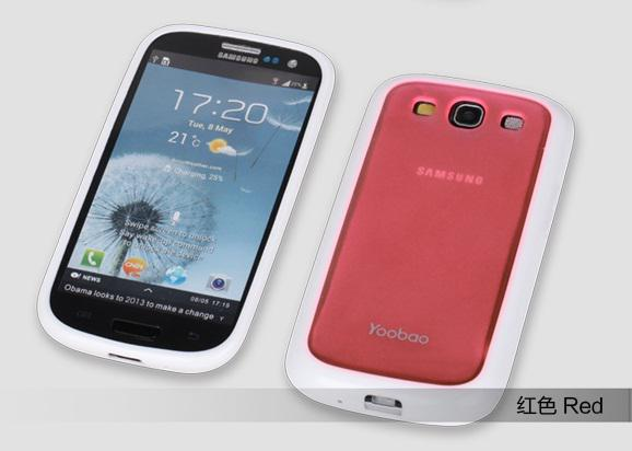 Чехол-накладка Yoobao 2 in 1 Protect case для Samsung i9300 Galaxy S III (red)