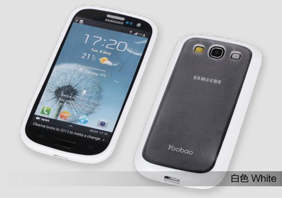 Чехол-накладка Yoobao 2 in 1 Protect case для Samsung i9300 Galaxy S III (white)