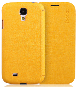 Чехол Yoobao Slim Leather case for Samsung i9500 Galaxy S IV (yellow)