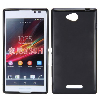 Чехол-накладка TPU cover case for Sony Xperia C S39h (black)