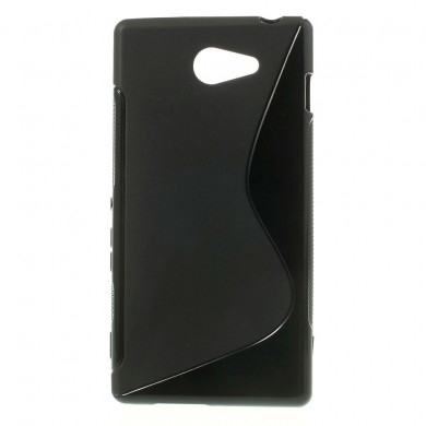 Чехол-накладка TPU cover case for Sony Xperia M2 (D2302) (black)